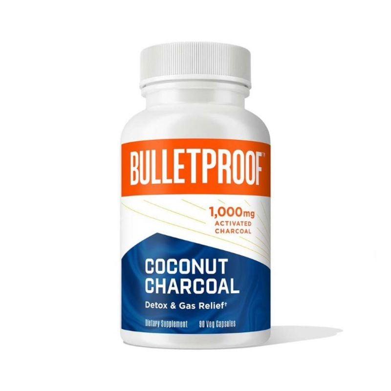 Bulletproof Coconut Charcoal 90 cap -  Front