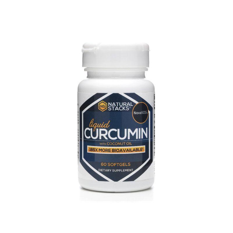 Natural Stacks Liquid Curcumin 60's - Front