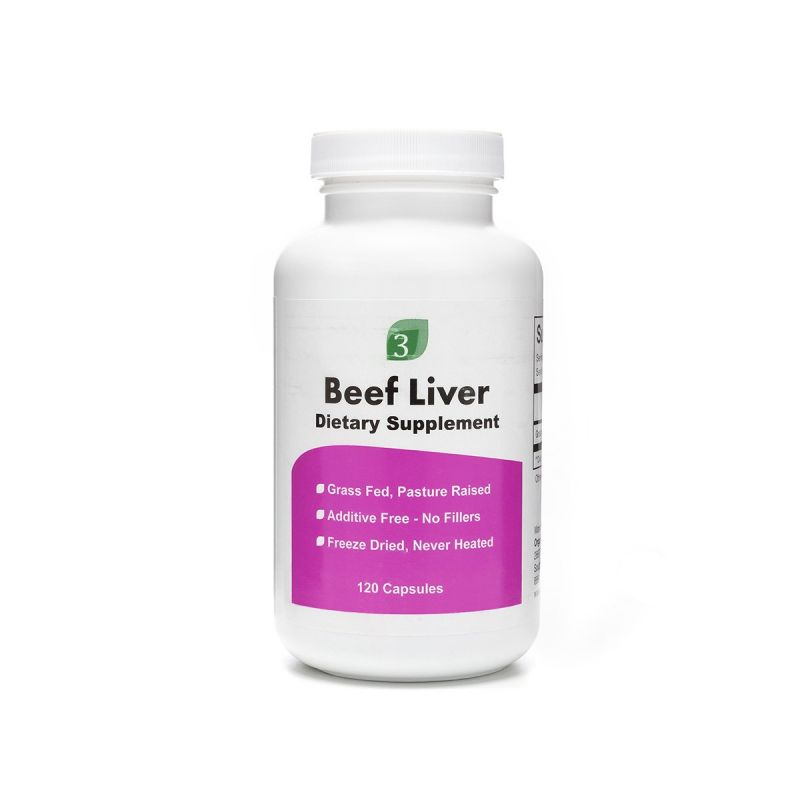 Beef Liver Capsules - Front