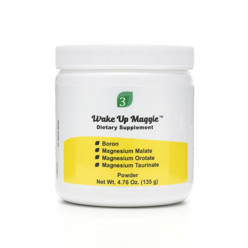 Organic3 Wake Up Maggie Powder 135g - Front