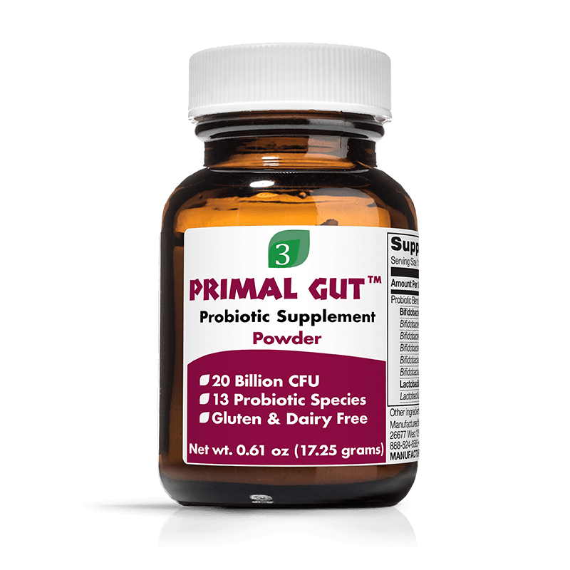 Organic 3 Primal Gut Powder - Front