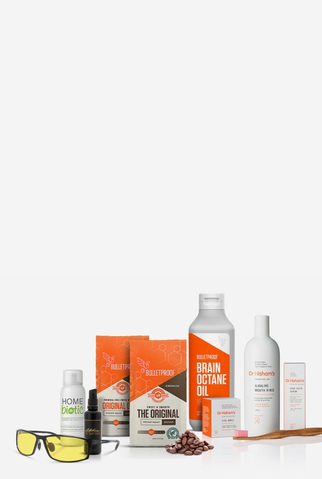 Functional Self's range of health boosting products homepage banner