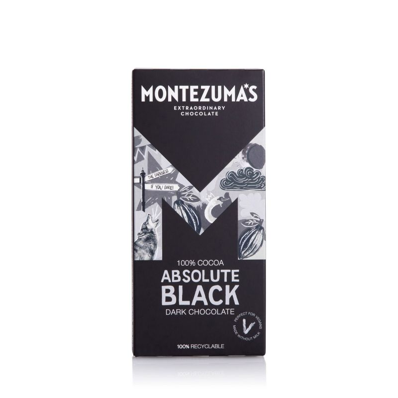 Montezuma's Absolute Black 100% Cocoa 90g Chocolate